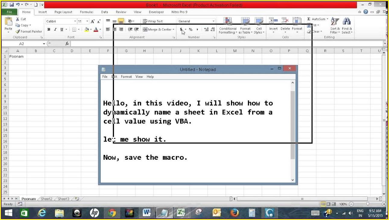 Vba Use Variable As Worksheet Name