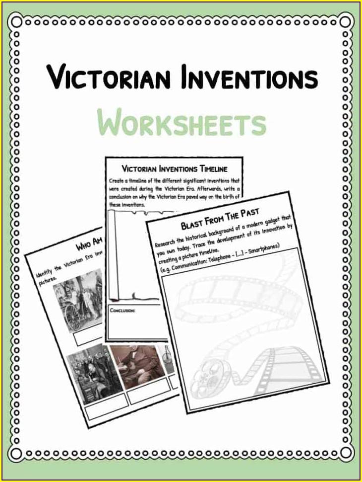 Victorian School Day Worksheet