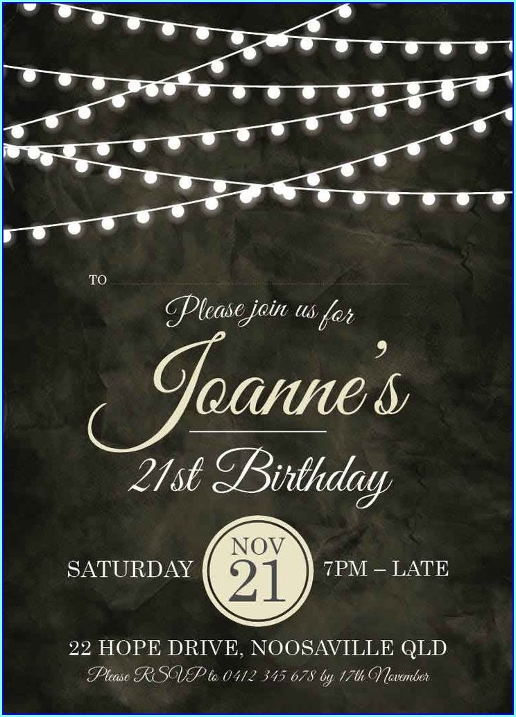 Vintage 21st Birthday Invitations