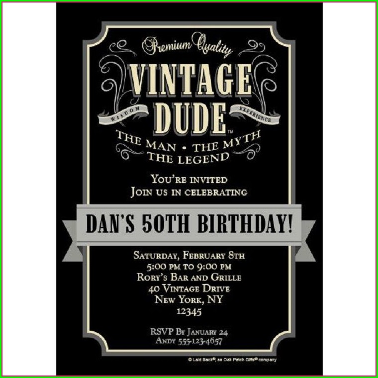 Vintage 60th Birthday Invitations