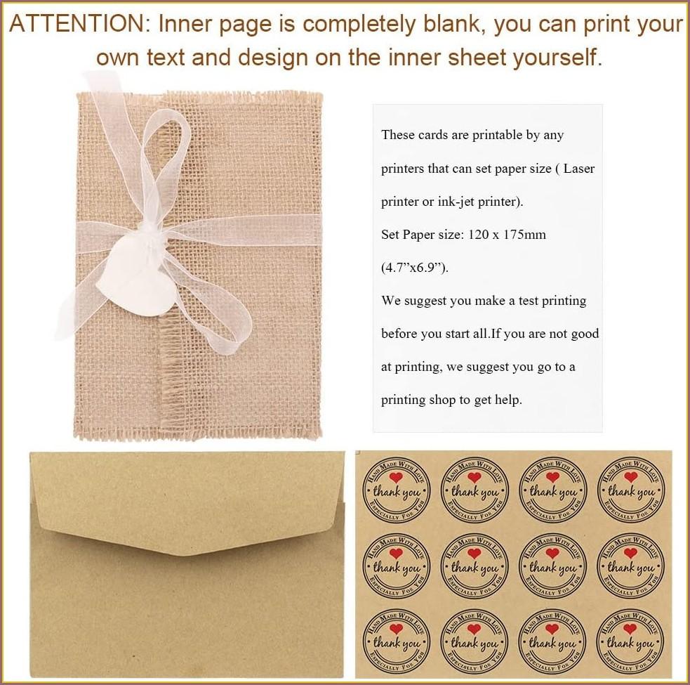 Vintage Burlap Wedding Invitations