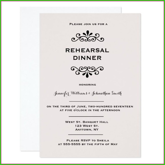 Vintage Rehearsal Dinner Invitations
