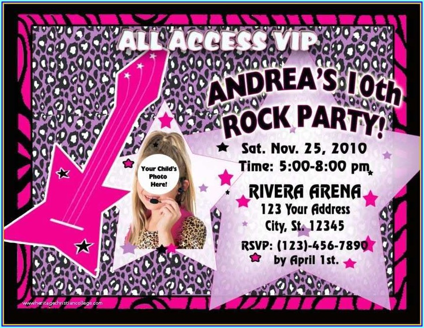 Vip Birthday Invitations Templates Free