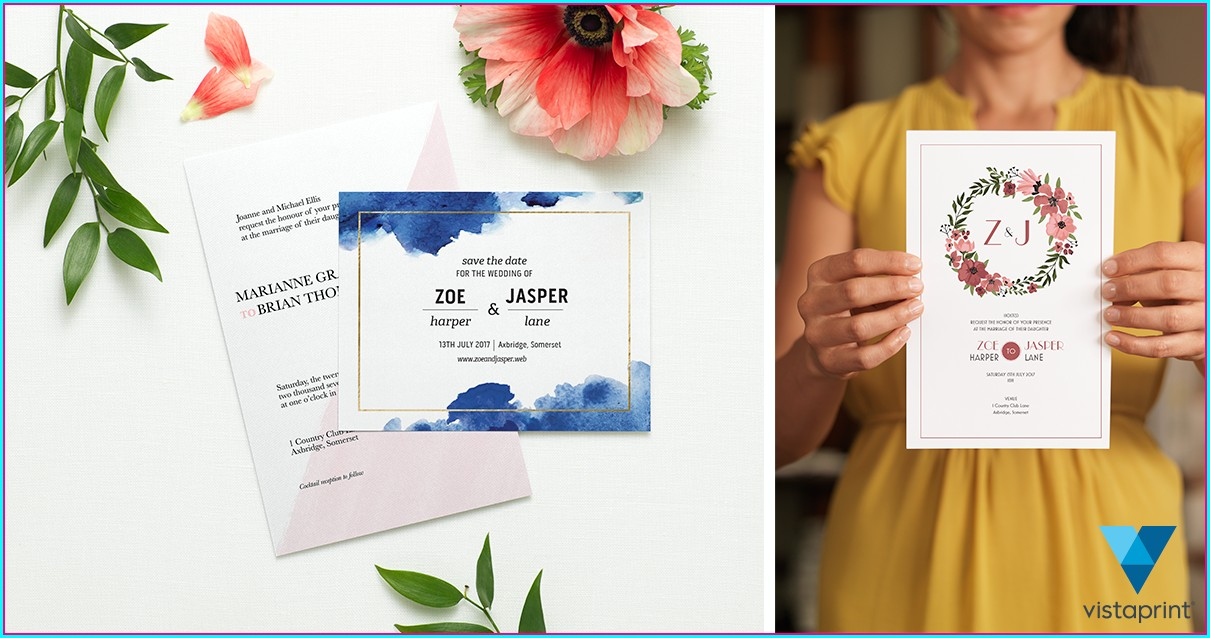 Vistaprint Wedding Invitations Uk