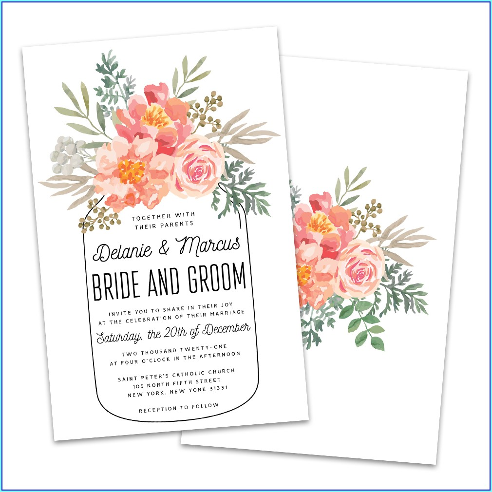 Walmart Personalized Wedding Invitations