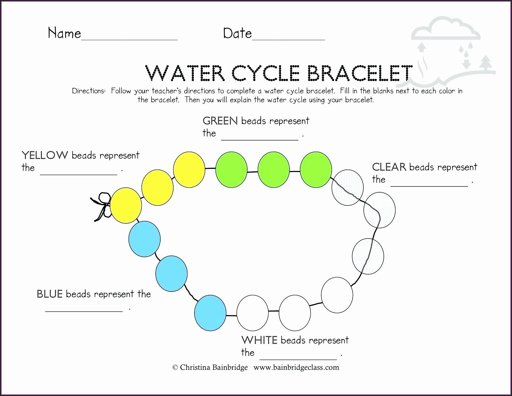 Water Cycle Worksheet With Answers
