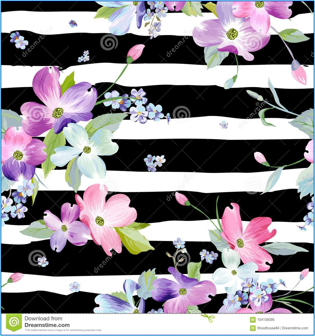Watercolor Floral Background For Invitation