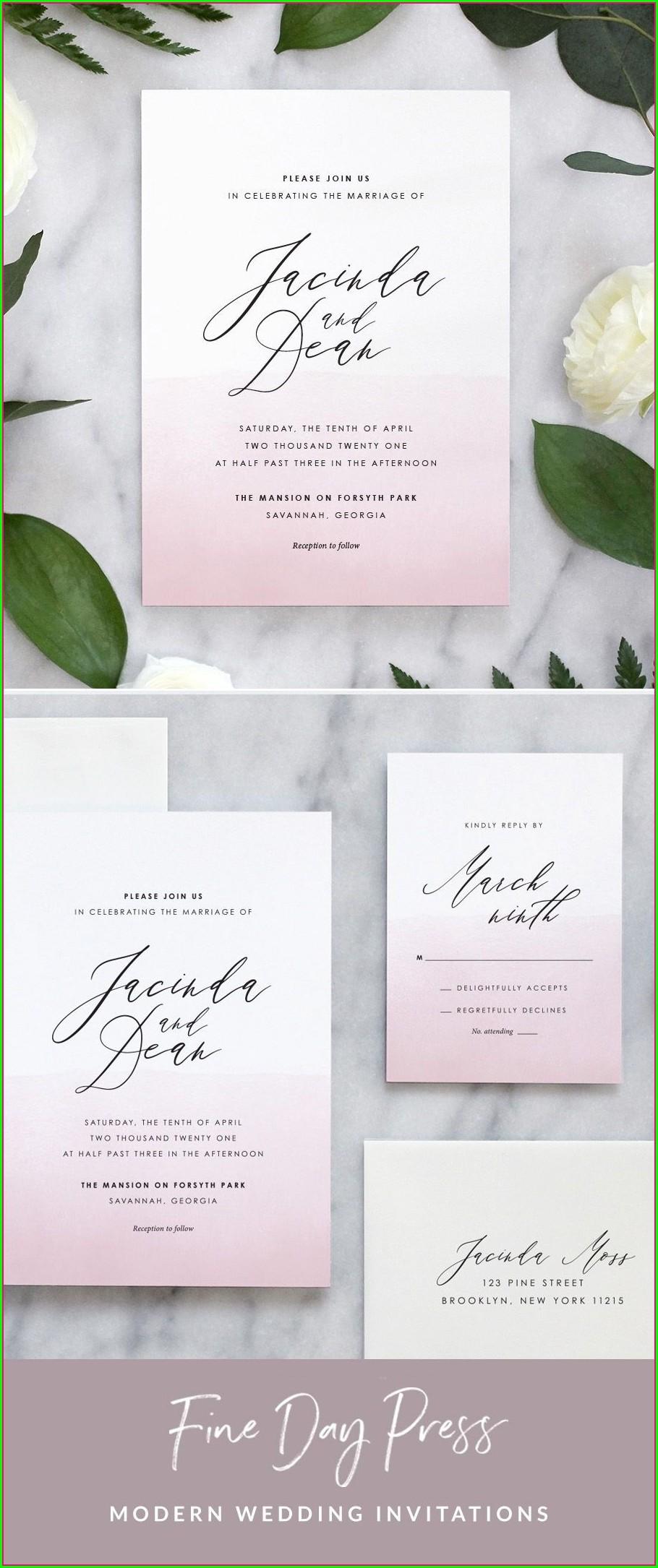 Watercolor Ombre Wedding Invitations