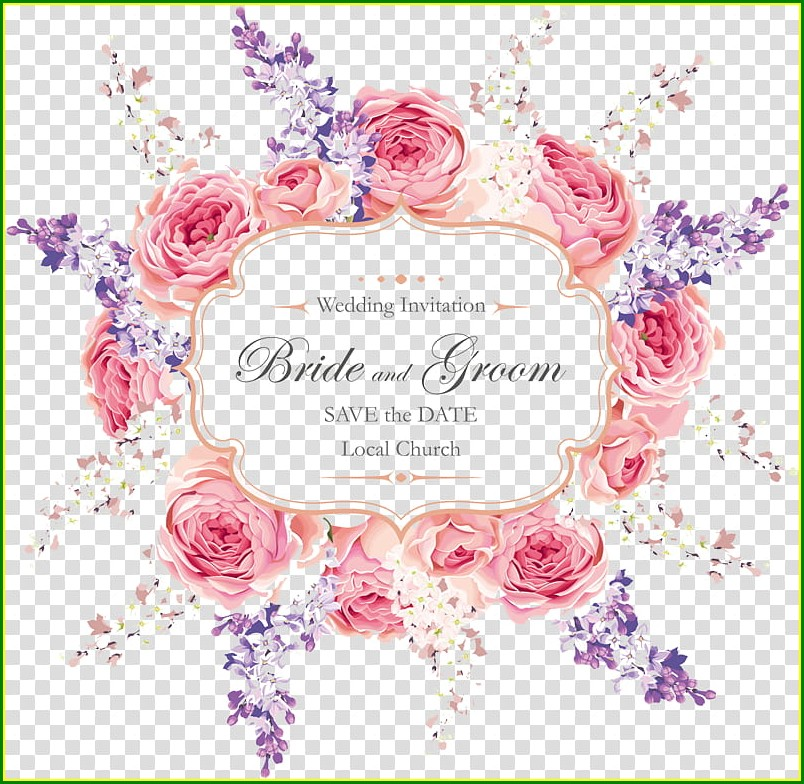 Wedding Invitation Card Background Design Hd Png