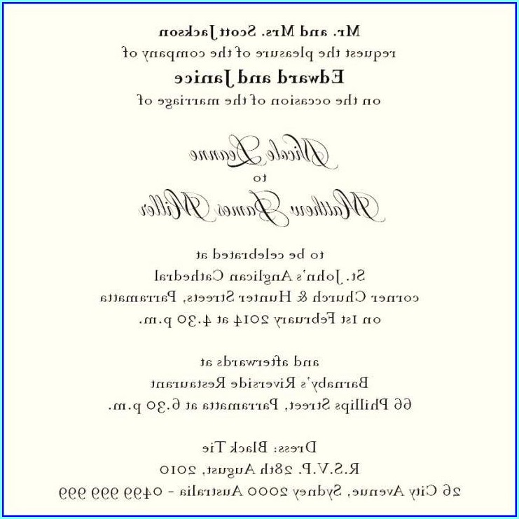 Wedding Invitation Cards Wordings In English