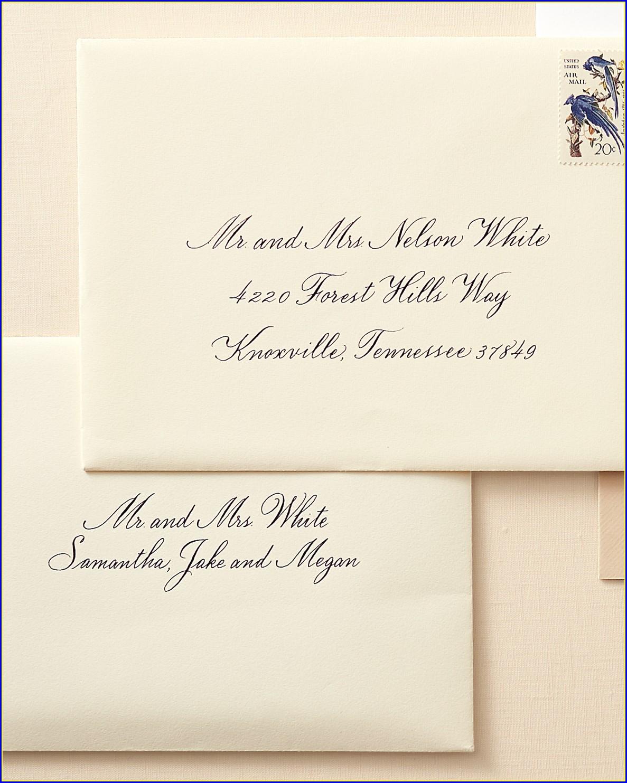 Wedding Invitation Edicate Addresses