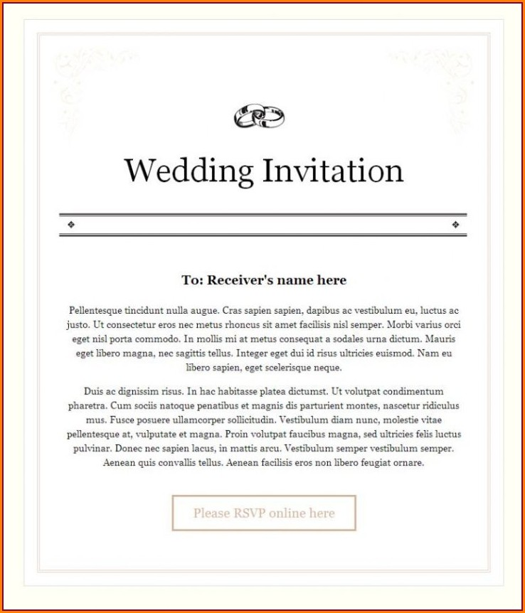 Wedding Invitation Mail To Colleagues India
