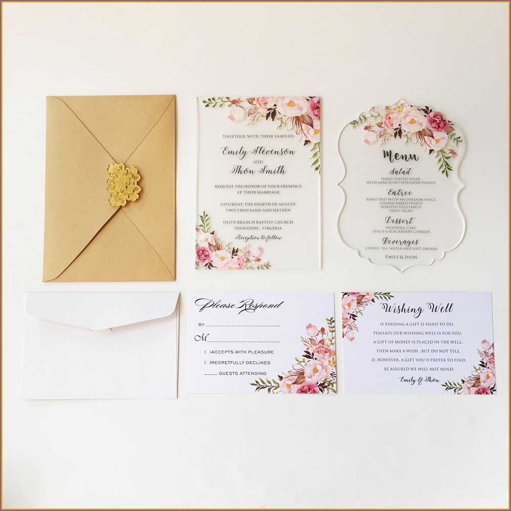 Wedding Invitation Sets Under 100