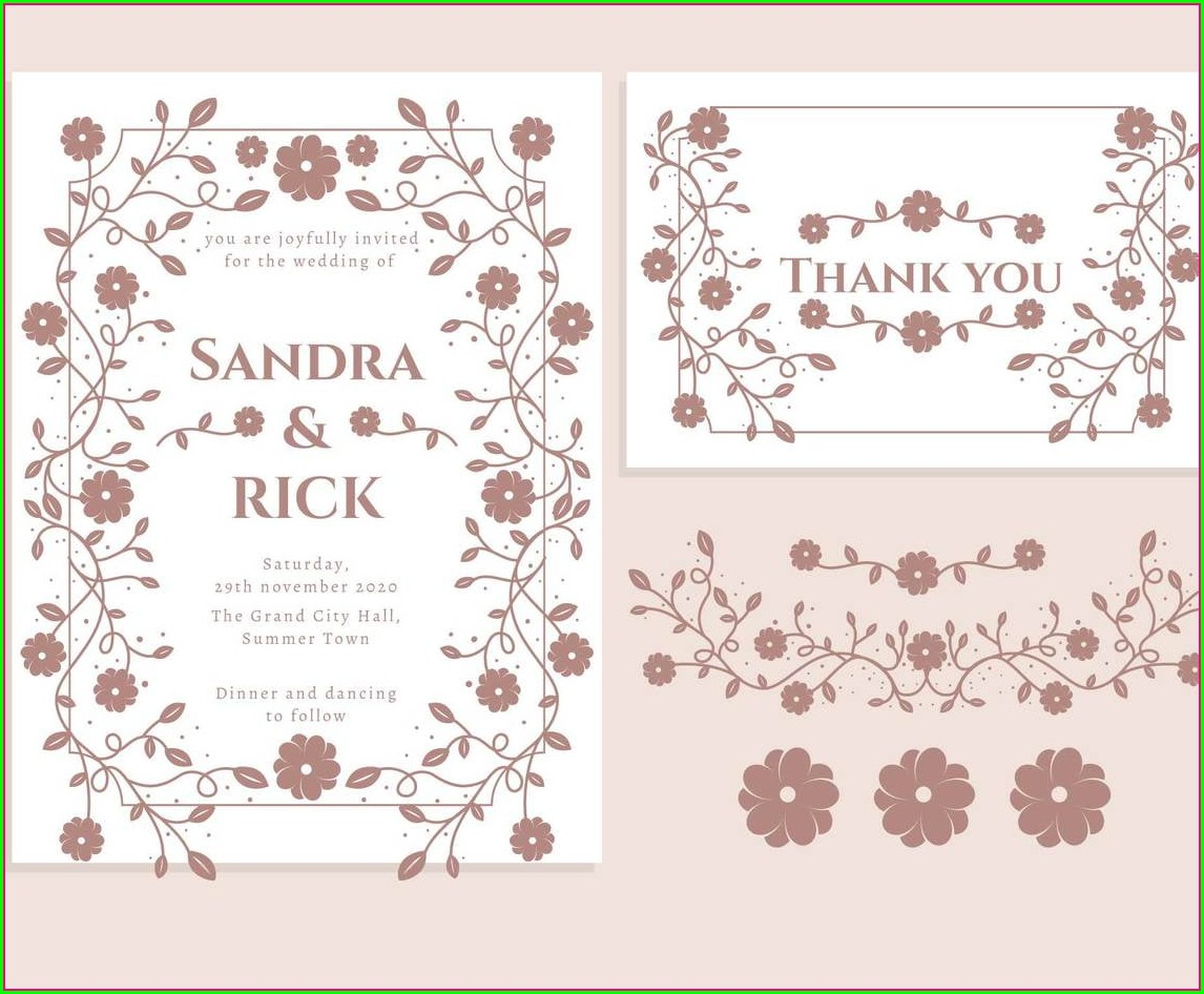Wedding Invitation Svg Free