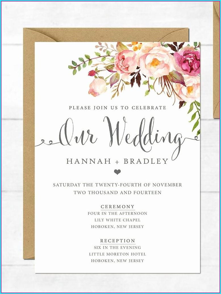 Wedding Invitation Templates With Photo