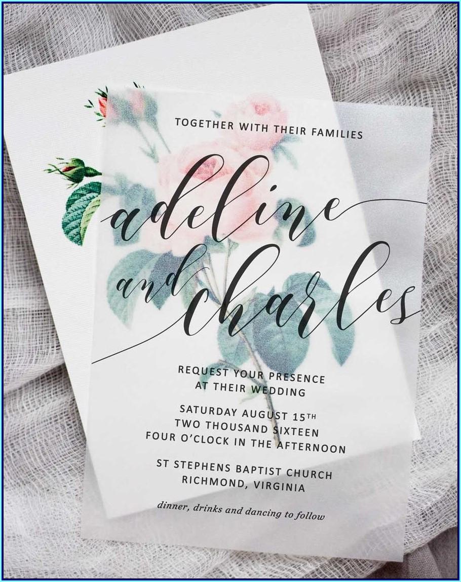 Wedding Invitation Translucent Paper