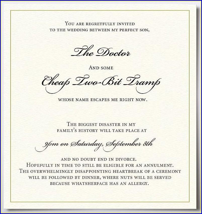 Wedding Invitation Wording Couple Hosting With Child