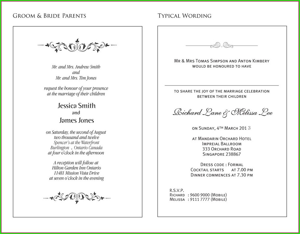 Wedding Invitation Wordings Philippines