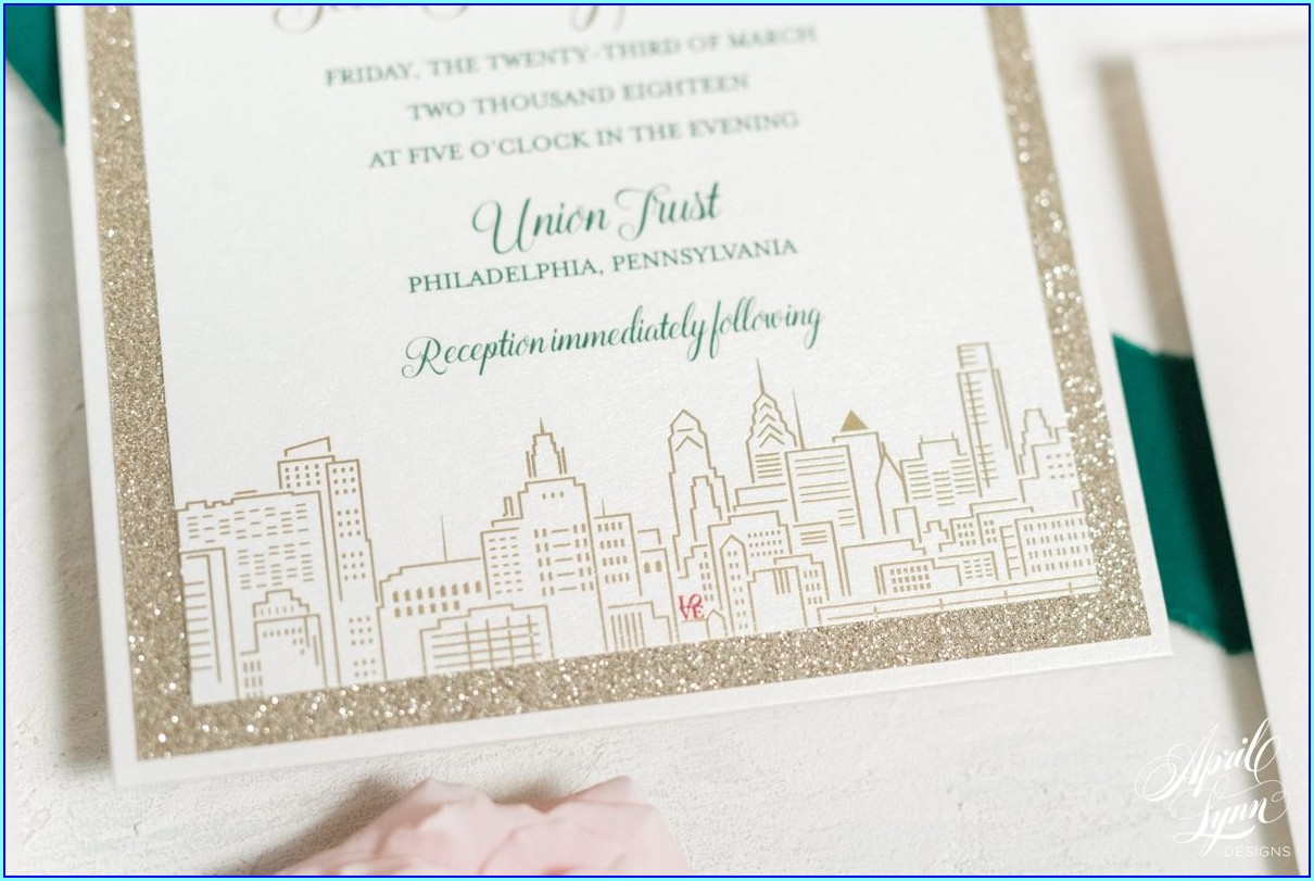 Wedding Invitations Bucks County Pa