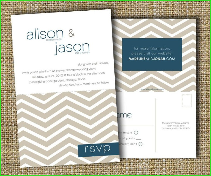 Wedding Invitations Perforated Rsvp
