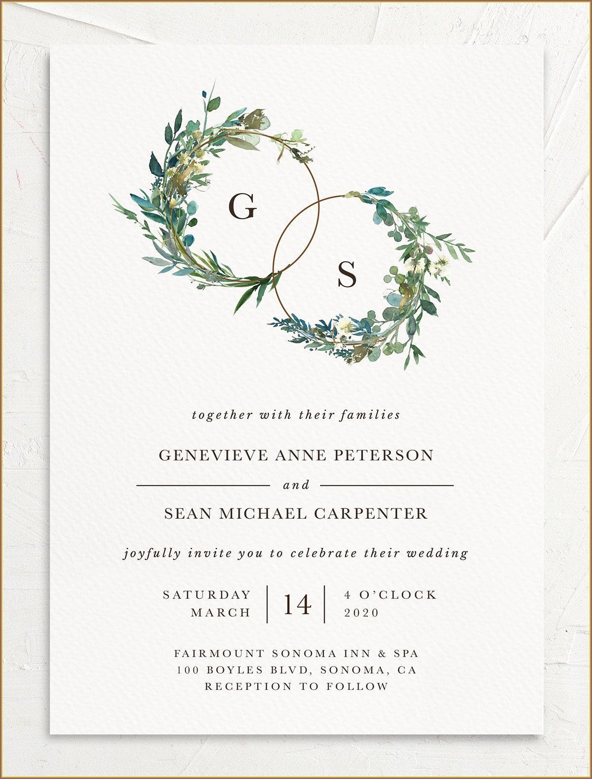 Wedding Invitations With Greenery