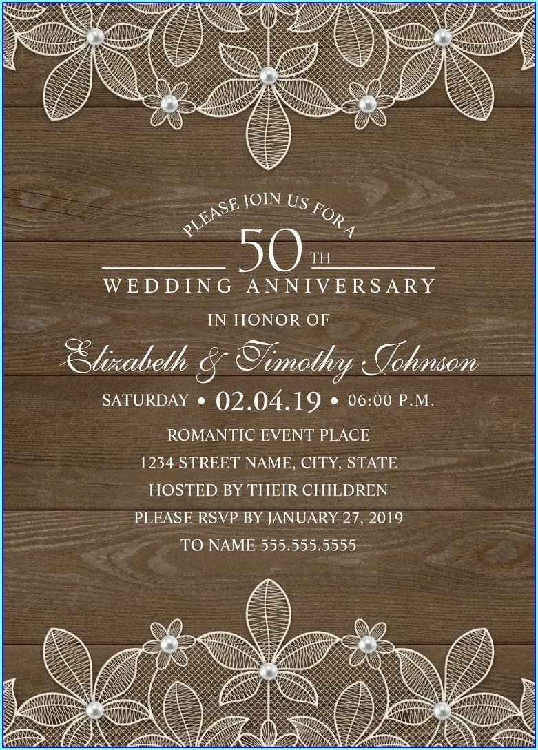 Wedding Invitations With Pearls And Lace