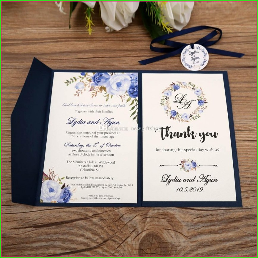 Wedding Invitations With Rsvp Attached