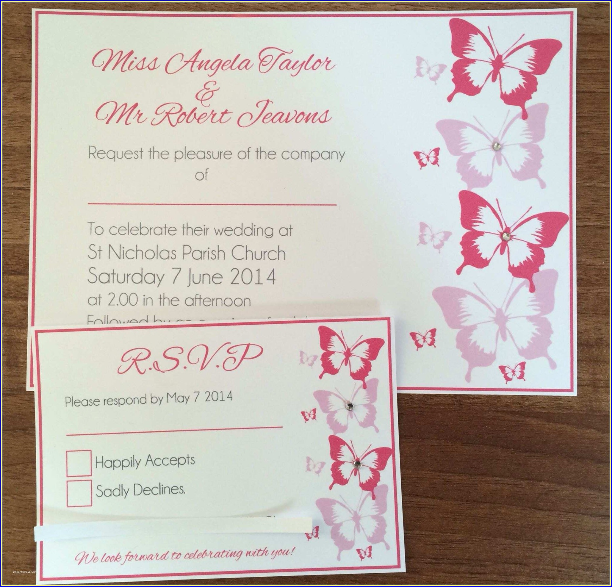 Wedding Invitations With Rsvp Cards Included Cheap