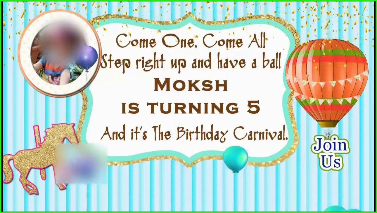 Whatsapp Text Message Birthday Invitation Message