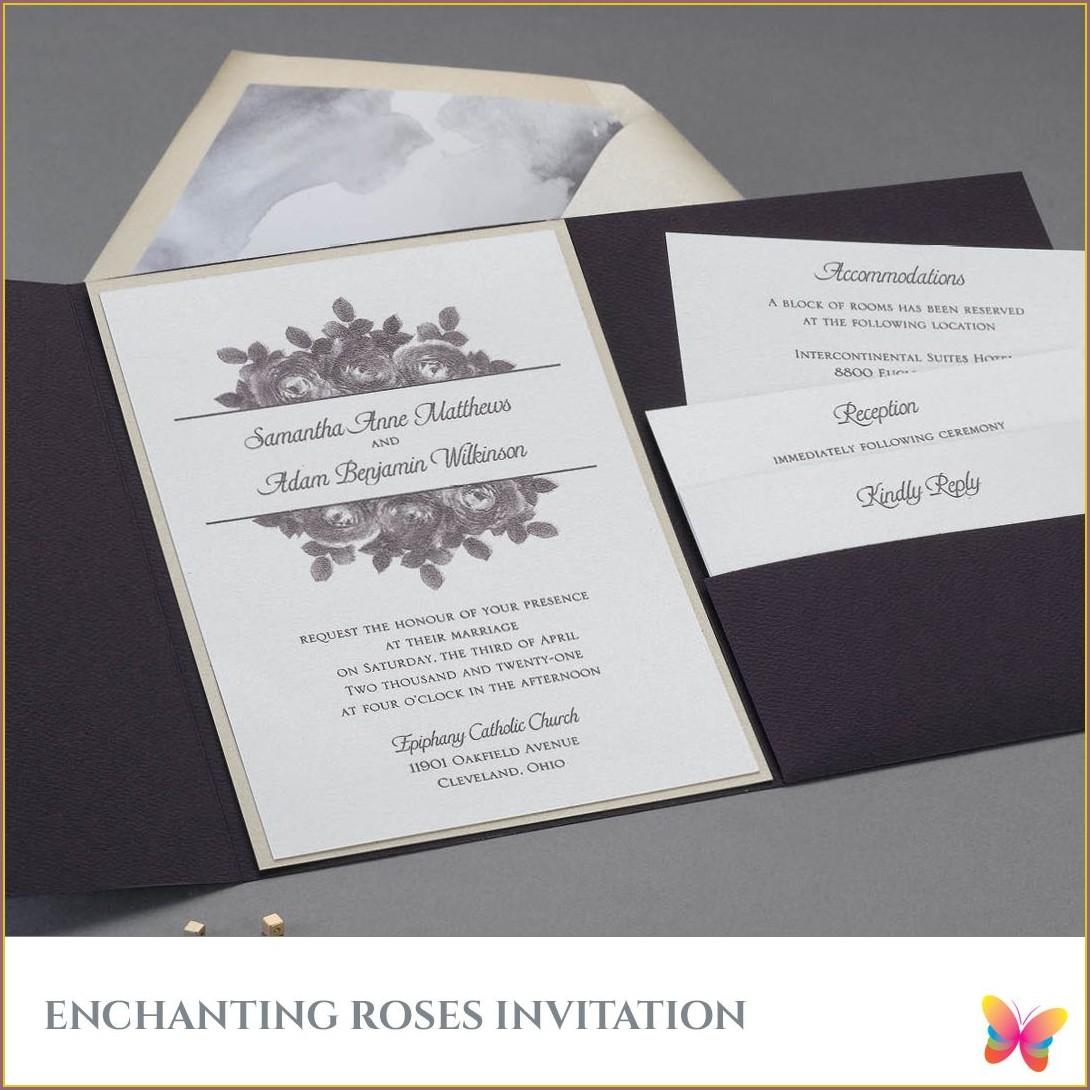 White Shimmer Wedding Invitations
