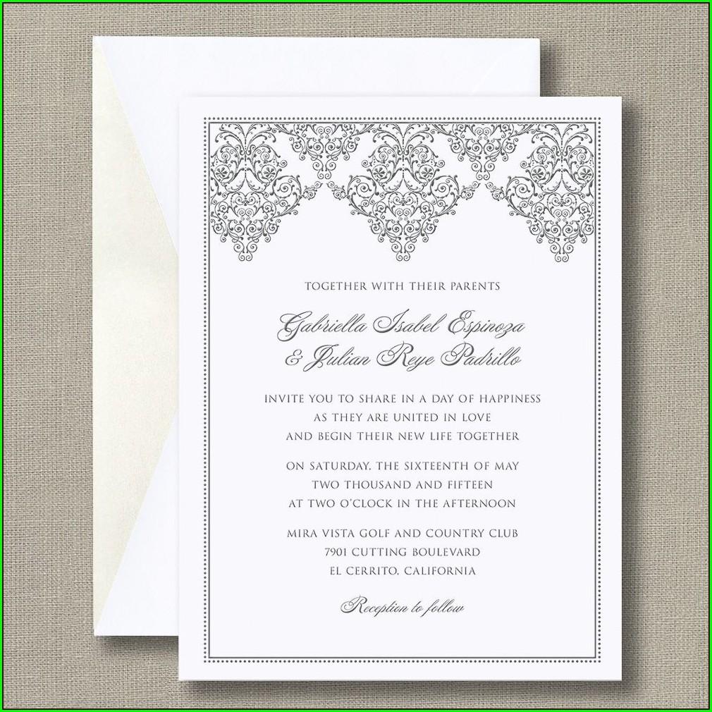 William Arthur Truly Wedding Invitations
