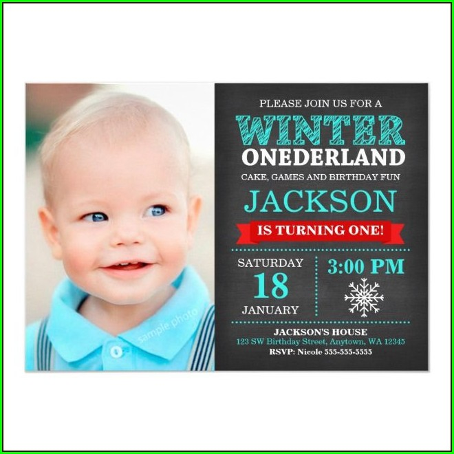 Winter Onederland Birthday Boy Invitations
