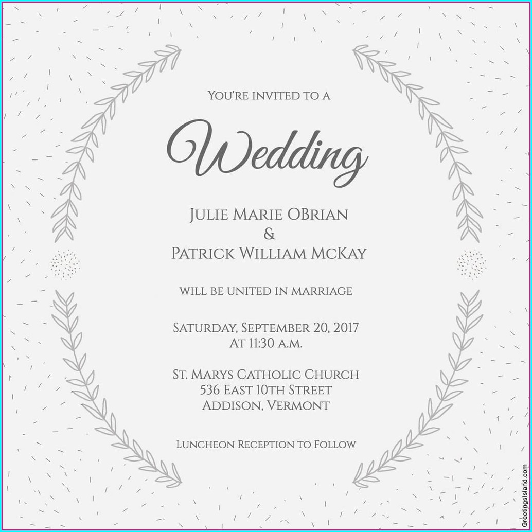 Word Document Free Wedding Invitation Templates For Word