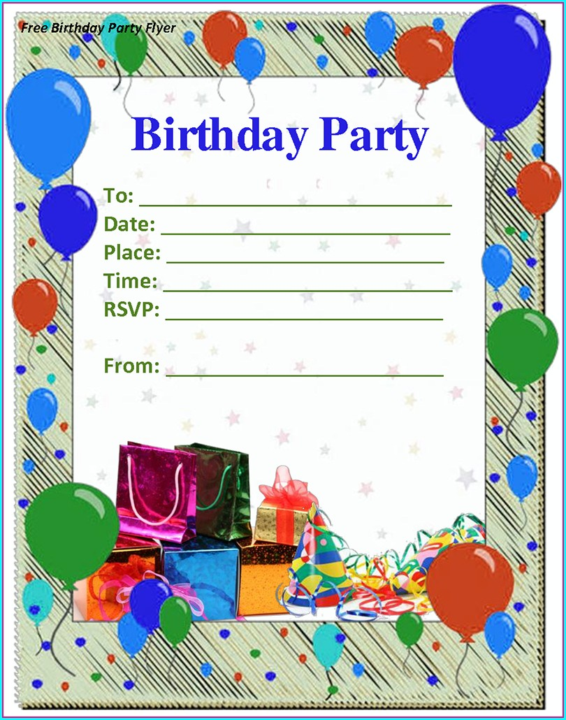Word Editable Birthday Invitations Templates Free