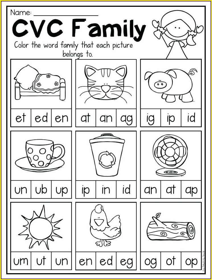 Word Family Worksheets Grade 4