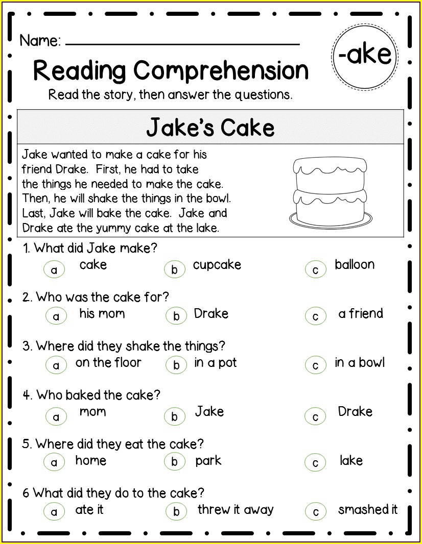 Word Family Worksheets Grade 5