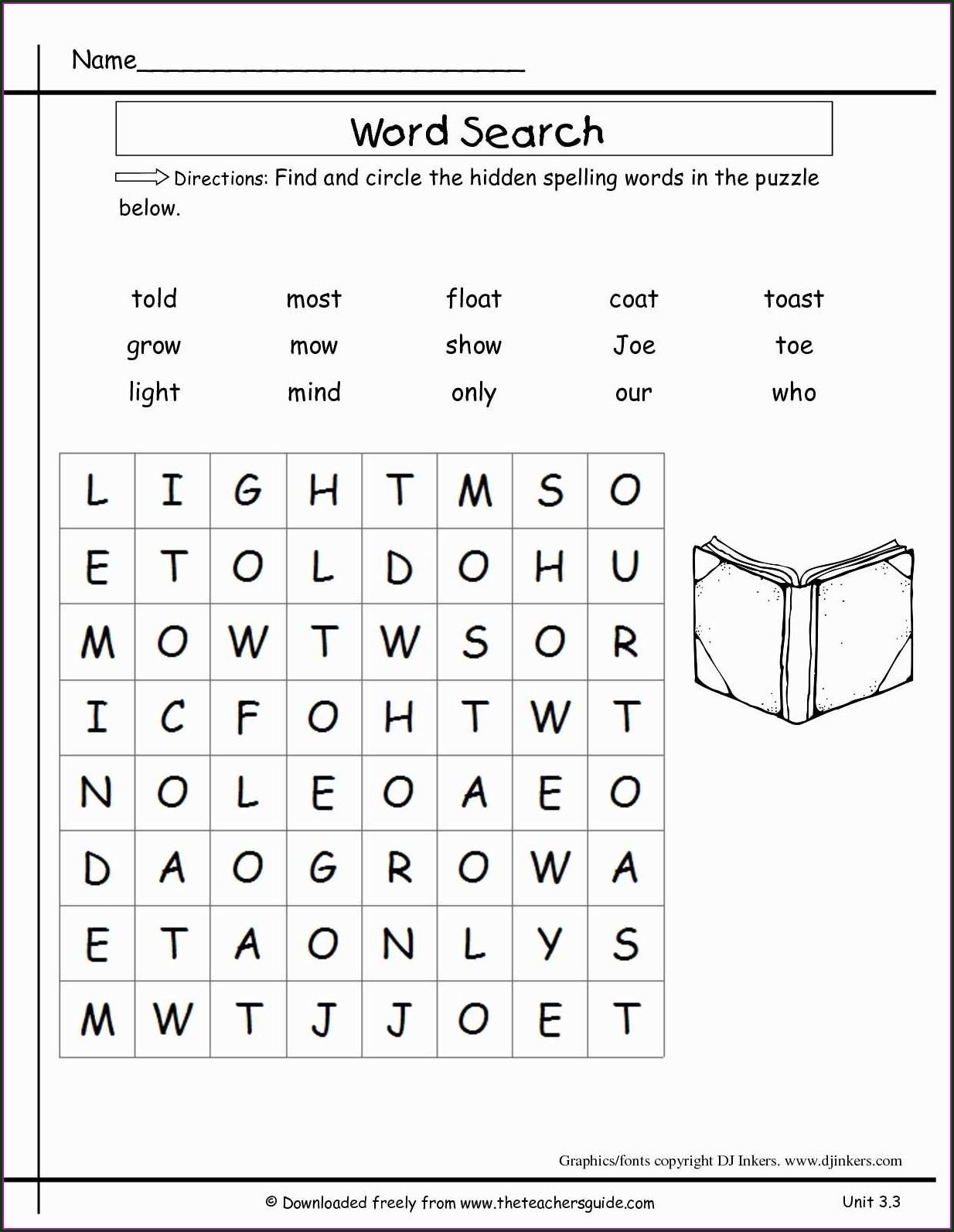 Worksheet On Sight Words For Grade 1