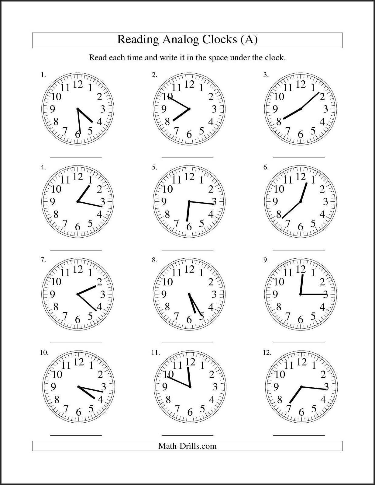 Worksheet Time For Grade 1