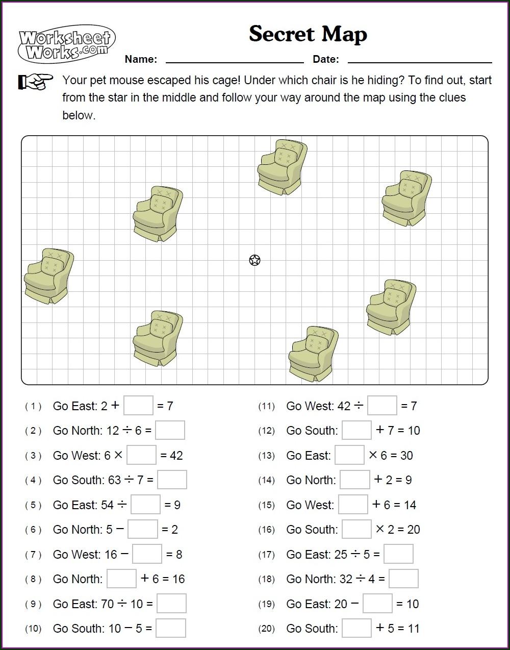 Worksheet Works Secret Map