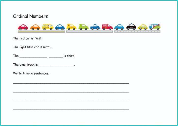 Writing Numbers In Sentences Worksheet