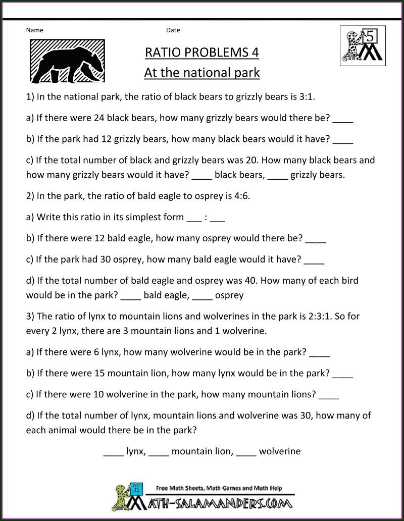Writing Ratios Worksheet Tes