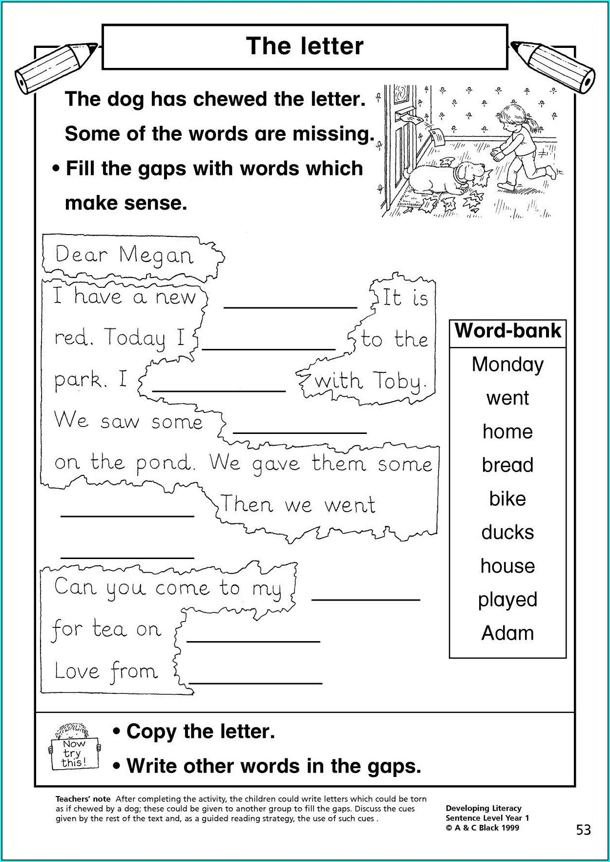 Writing Sentences Ks1 Worksheets