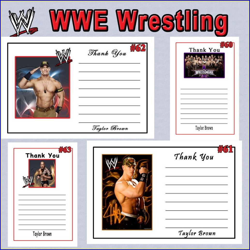 Wwe Birthday Invitations Printable Free