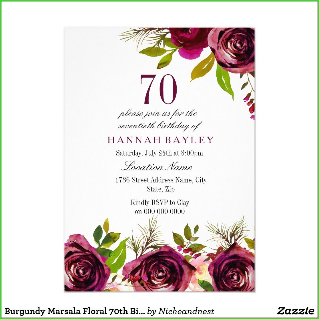 Zazzle 75th Birthday Invitations