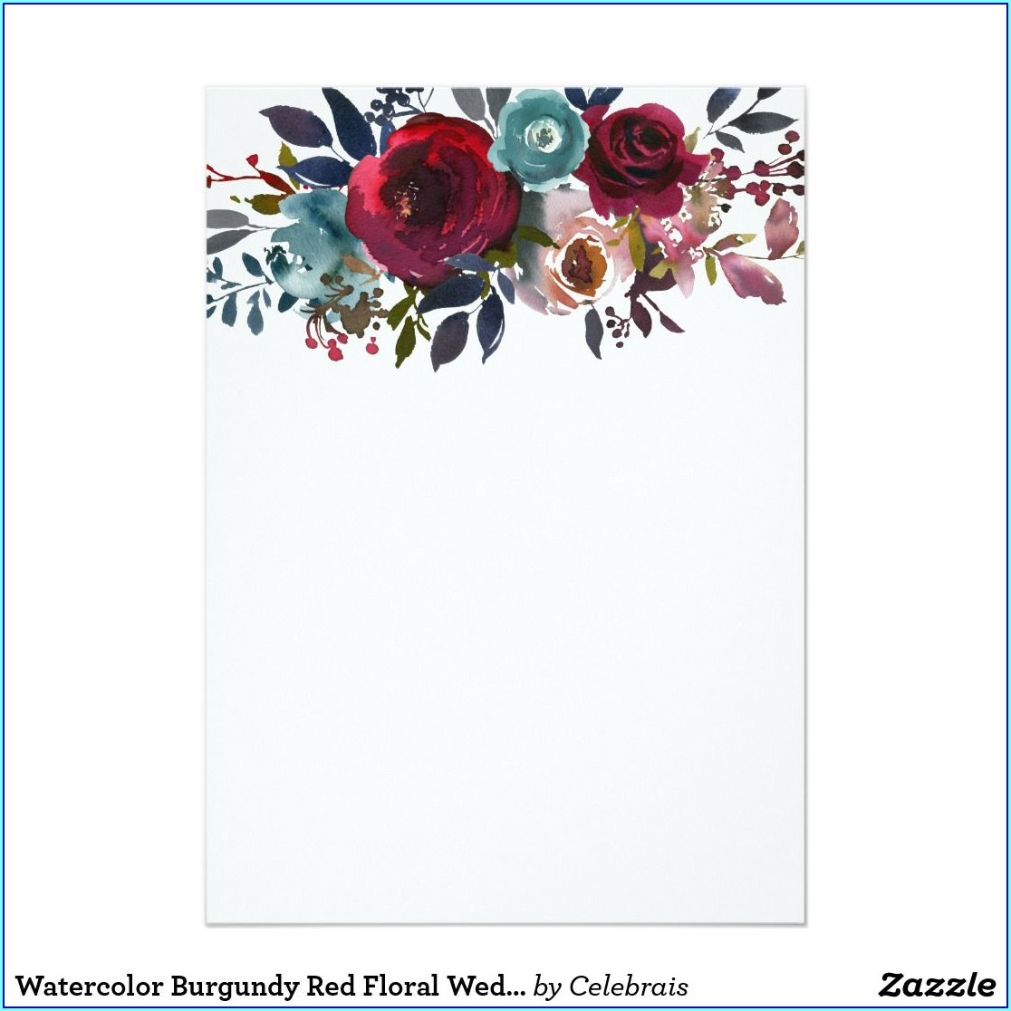 Zazzle Floral Wedding Invitations