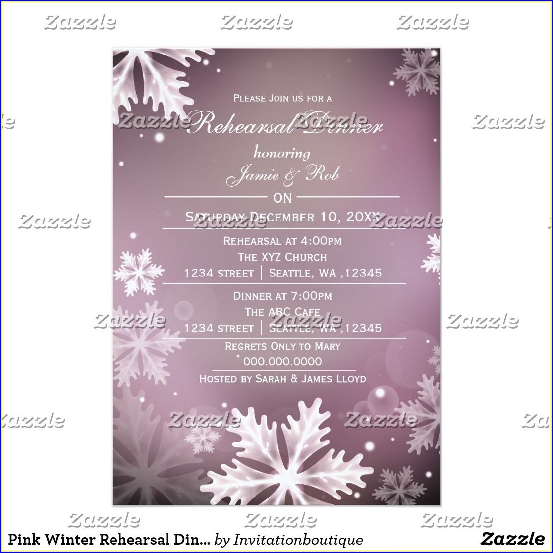 Zazzle Rehearsal Dinner Invitations