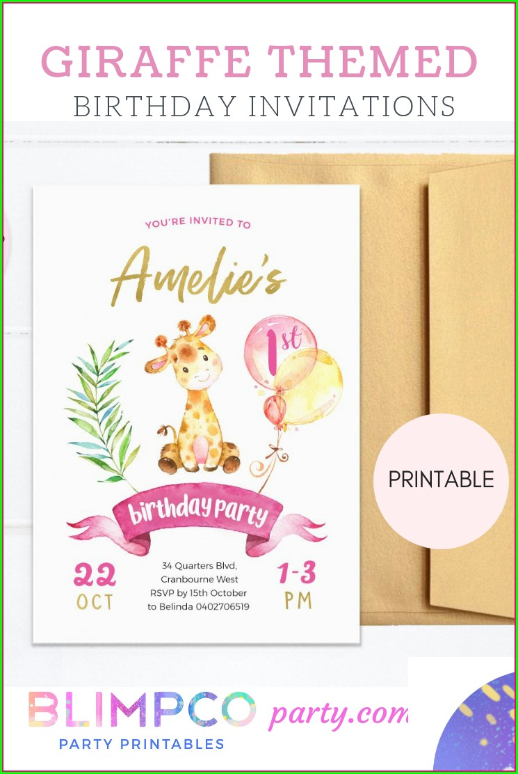 Zoo Animal Invitations Printable