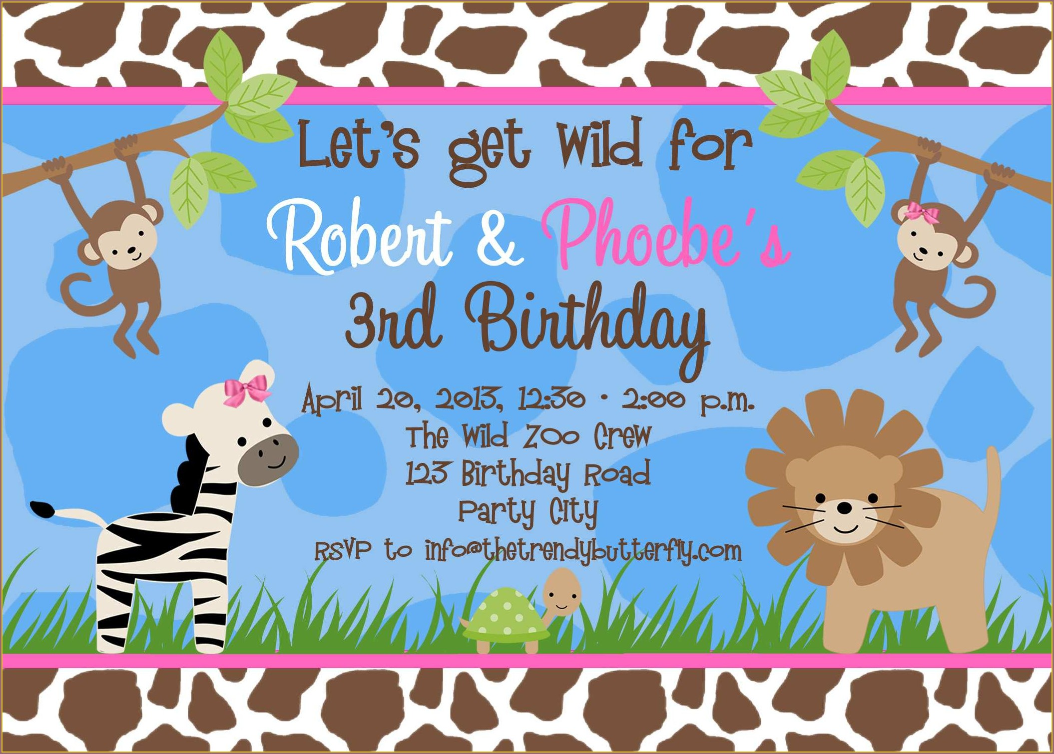 Zoo Invitation Template Free