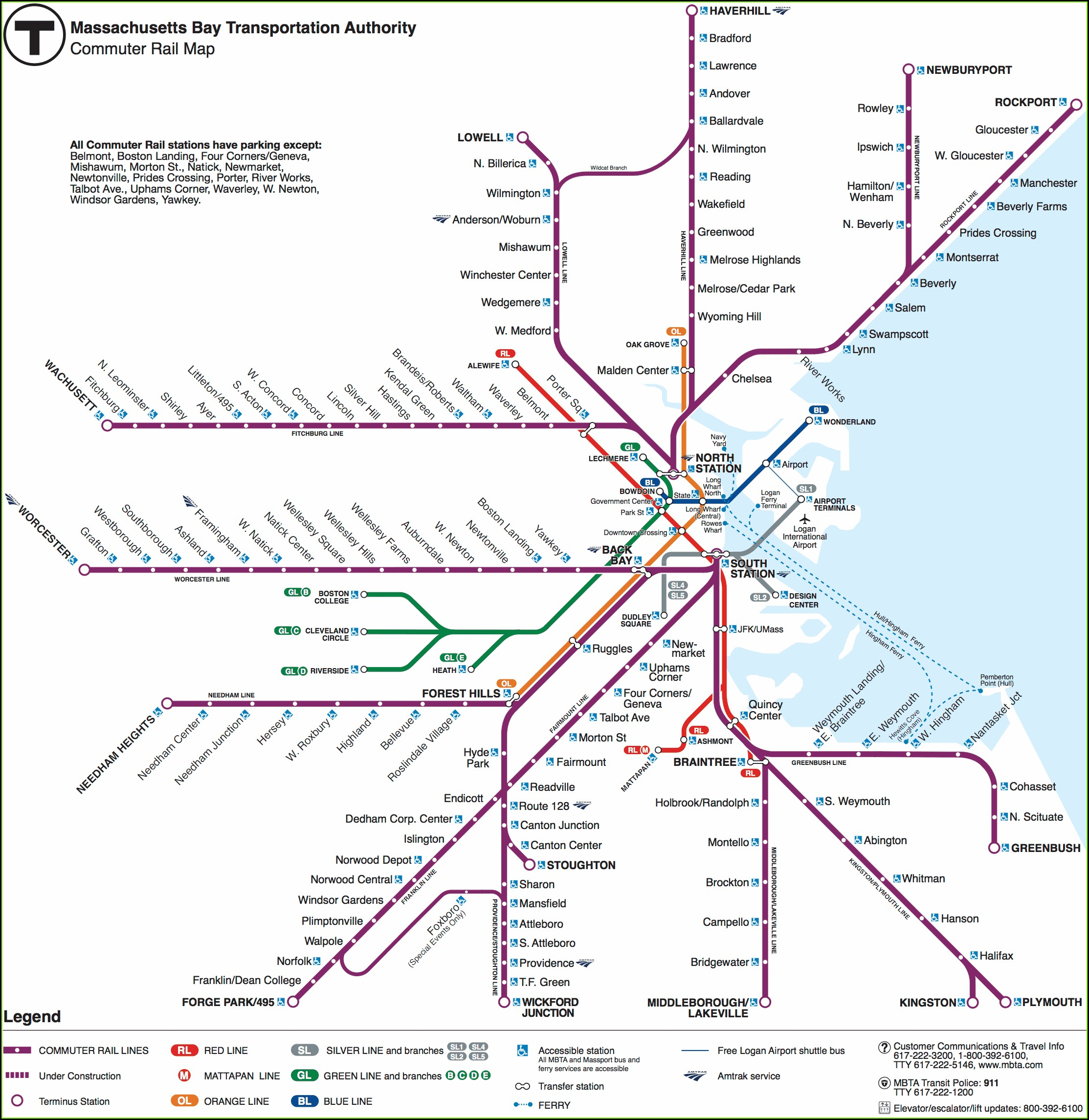 Accurate Mbta Commuter Rail Map