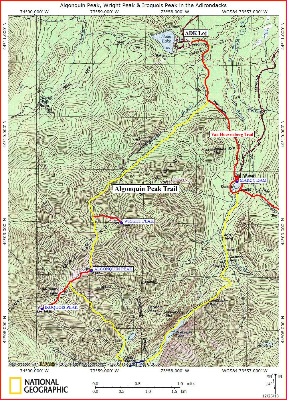 Adirondack High Peaks Trail Map Pdf